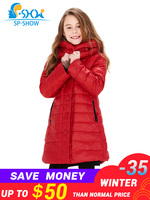 BUY 1 COAT GET 1 FREE SCARF 30 degrees SP SHOW Winter 90% White down coats With Hood Warm Jacket For 4 9Y Girl Winter Jacket