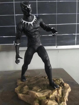 Huong Movie Figure 30CM Super Hero Black Panther Statue PVC Figure Collectible Model Toy Gift