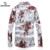 SHANBAO Camisas de Los Hombres Más El tamaño del estilo Chino de la impresión Delgada Camisa masculina casual de negocios otoño primavera camisa de manga larga 4XL 5XL