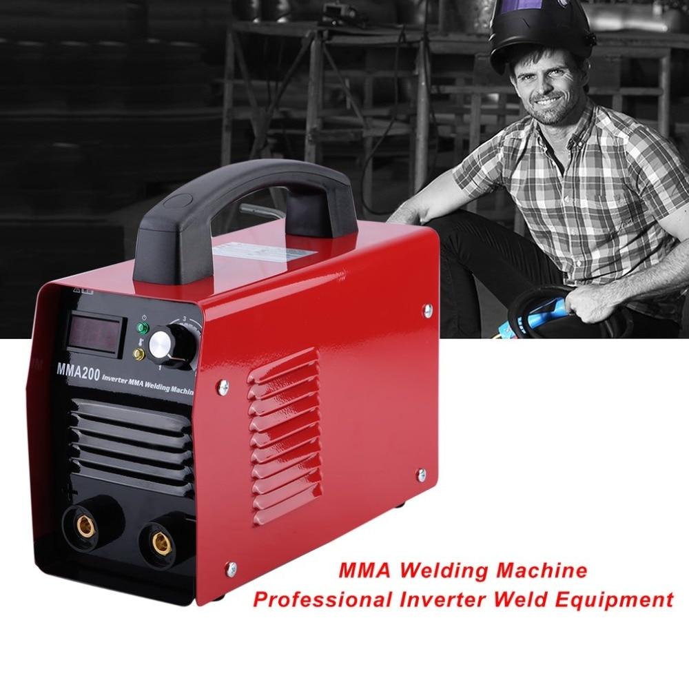 цена на MMA200 Welding Machine Professional Inverter Weld Equipment Durable 220V IGBT MMA Welding Machine Metalworking Parts EU Plug