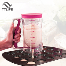 TTLIFE Batter Dispenser Perfect Baking Tool for Any Baked Goods KPKitchen Easy Pour Food Gadgets Bakeware Maker with Measuring