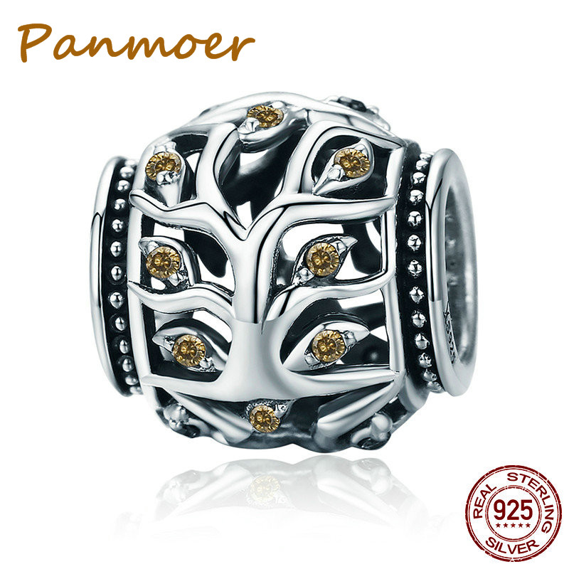 Silver 925 Sterling Silver Tree of Life Beads Charms fit original pandora Charm Bracelets & Bangles DIY Jewelry Making