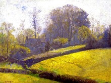 Unframed Canvas Prints - Springtime In Sussex - By Tom Roberts