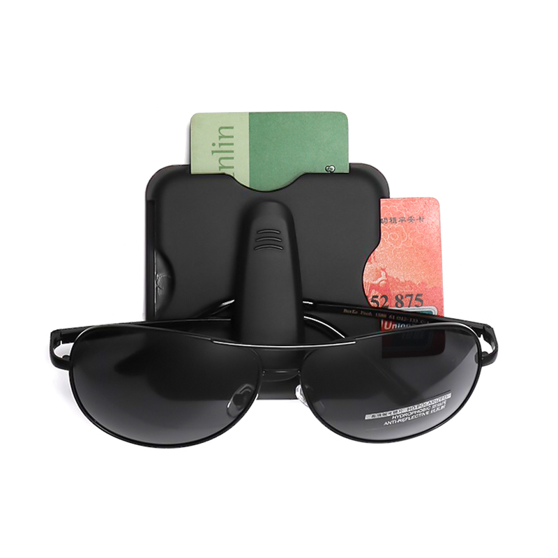 2018 NEW design Car Styling Sunglasses Eyeglasses Glasses and card Holder Case Auto Sunvisor Accesories High Quality