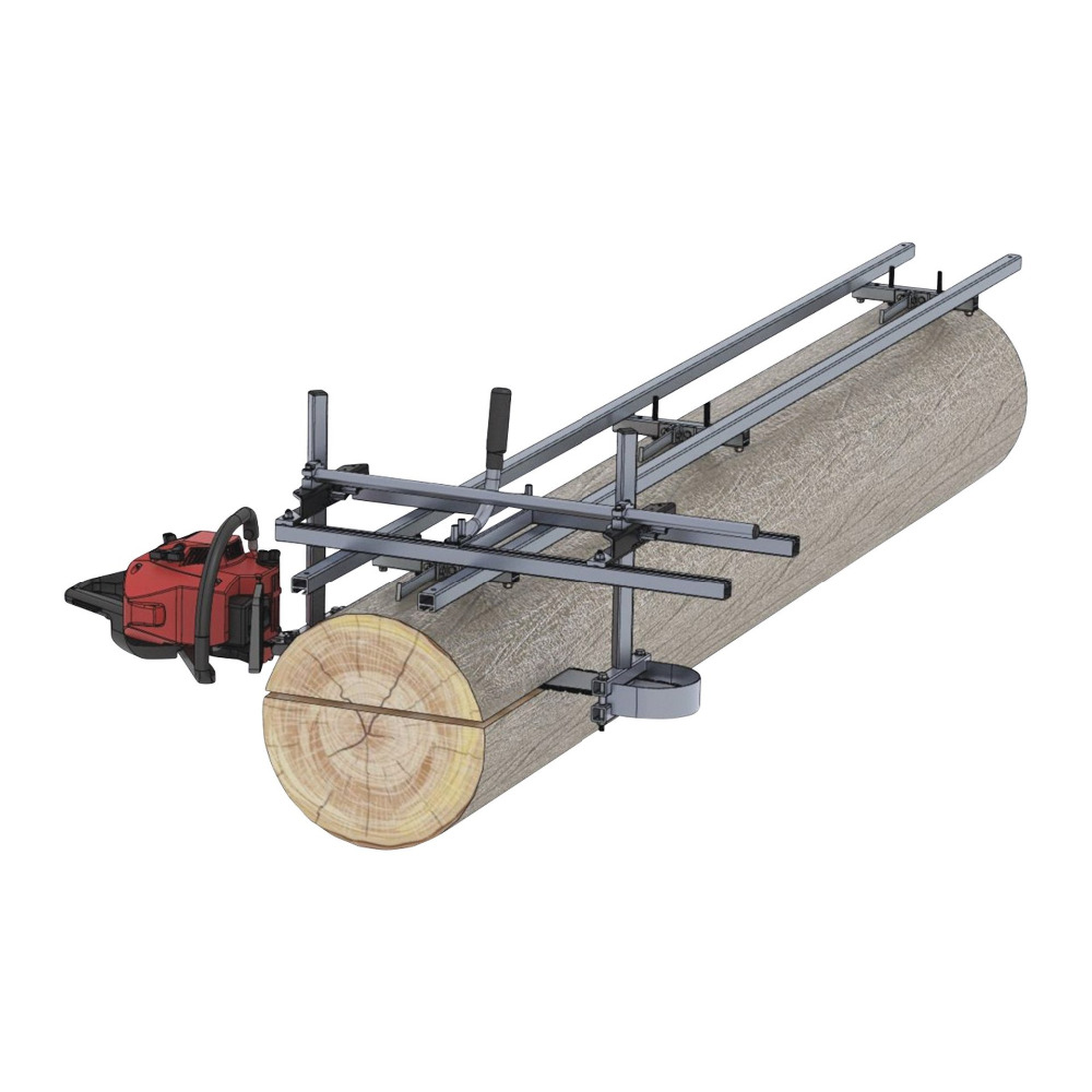 Chainsaw Milling Guide Bar Rail System Milling Guide Set for 20 24 36 48 inch Chainsaw Mill Guide Bar Planking Lumber Cutting
