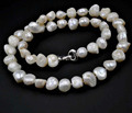 "24"" Natural  14-16mm Cultured Baroque Pearl Necklace"