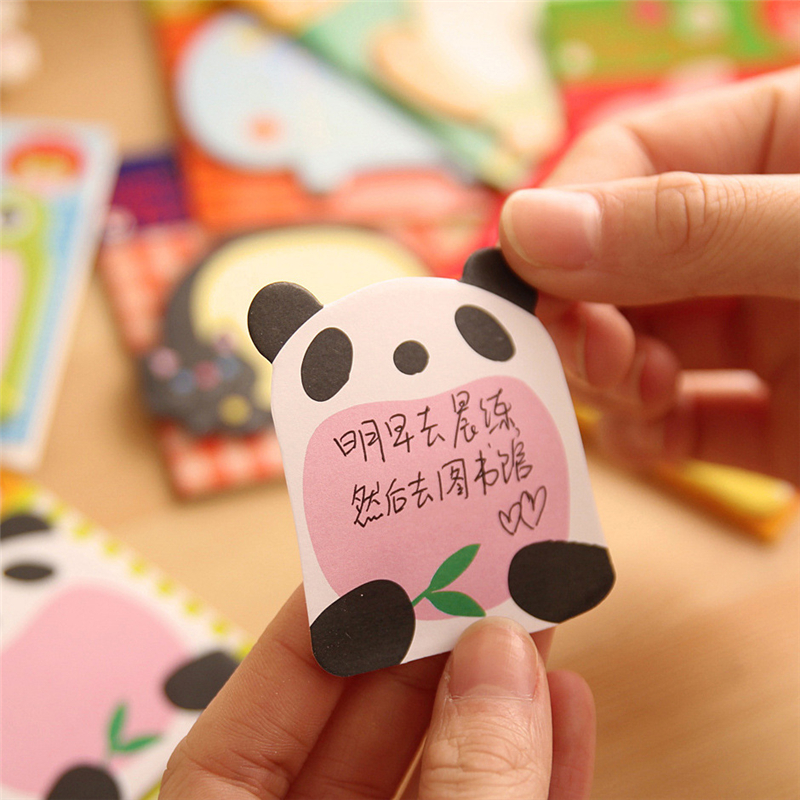 Купить с кэшбэком Creative Cute Forest Animal Series Cute Paper Memo Pad / Sticker Post Sticky Notes Notepad student supplies learning supplies
