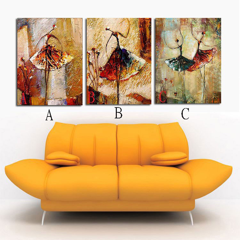 100 hand painted home decor hand painted wall art ballet abstract oil paintings Choose combination A