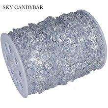 SKY CANDYBAR 99 FT Garland Diamond Strand Acrylic Crystal Bead Wedding Decoration