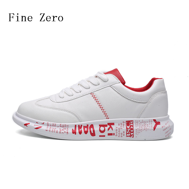 Fine Zero 2017 Spring/Autumn Male Lace Up New Brand Genuine Leather Shoes Men Soft Comfortable Flats Outdoor Shoes Man Sneakers