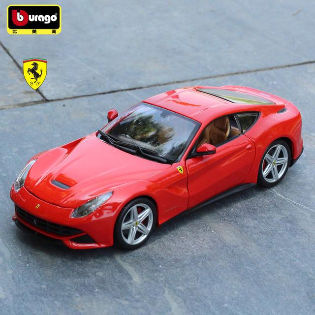 F12 Berlinetta Bburago 1:24 Aleación Modelo de Coche Juguetes Colección Funde y Automóviles de Juguete Juguetes Para Niños de Regalo
