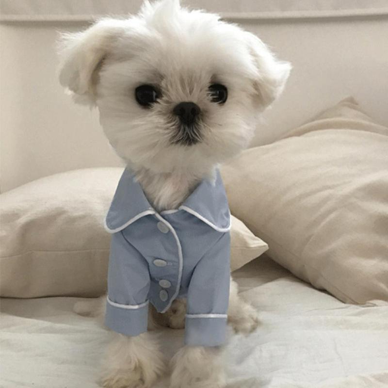 ПЭТ корейский французский Стиль собака Комбинезоны для женщин Комбинезоны для малышек одежда для Товары для собак Одежда для пар Костюмы п... ...