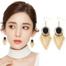 Fashion Jewelry Bohemian Fringe Geometric Earring Long Round Eardrop Earrings Elegant Vintage 2019 women's Earrings WD11 цены онлайн