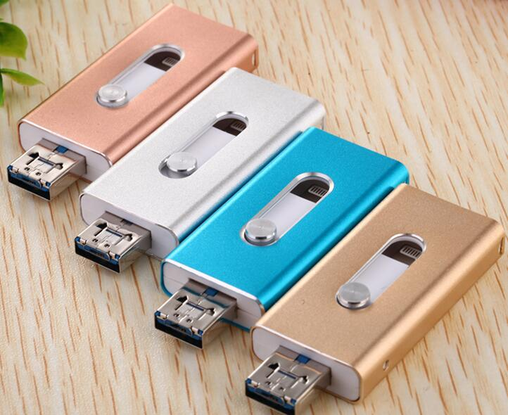 For iPhone 5/5s/6/6s Plus/ipad memory drive Otg Usb Flash DriveUsb Flash Drive iPhone16gb32gb Usb Pen Drive 6 Language