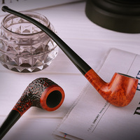 Tobacco pipes wood briar Long mouthed tobacco smoking pipe Tobacco Pipes & Accessories
