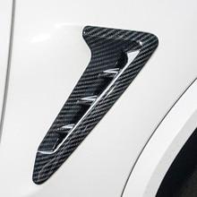 Авто карбоновое волокно крыло сторона вентиляционное отверстие накладка наклейка для BMW X3 G01 стиль хром серебро ABS автомобиля Стайлинг Аксессуары