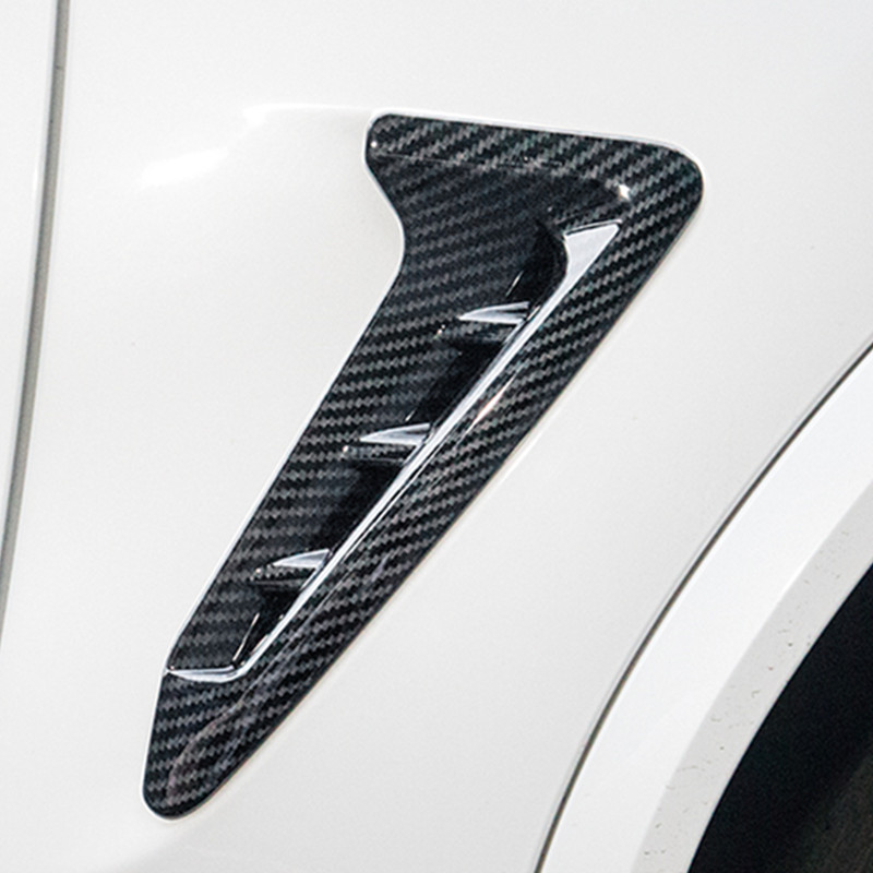 Auto Carbon Fibre Fender Side Air Vent Trim Sticker For BMW X3 G01 2017 2018 New Style Chrome Silver ABS Car Styling Accessories