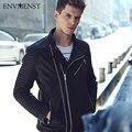 Envmenst 2017 Brand Designed PU Leather Biker Jackets For Men Coats Slim Motorcycle Bomber Jacket Mens Leather Jackets and Coats