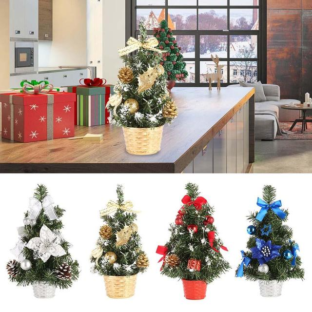2018 New Party Supplies Mini Artificial Christmas Tree Decoration Family Gifts For Home Xmas