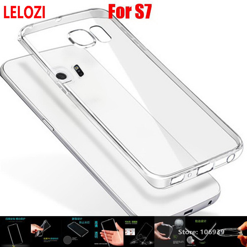 LELOZI Soft Transparent TPU Clear Silicone Gel Fundas Etui Case Cover For Samsung Galaxy S7 SM-G930 S 7 SM G930 Best