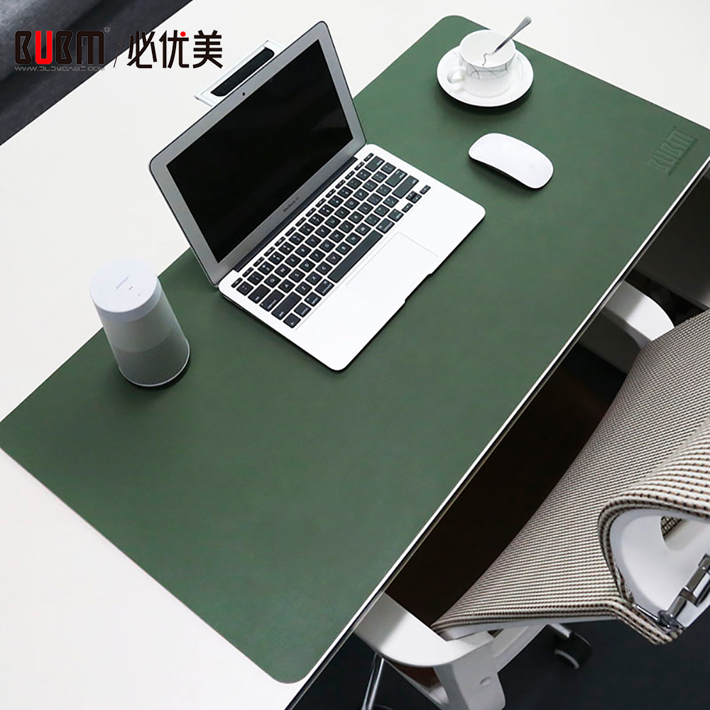 Bubm Waterproof Desk Pad Protecter Pu Leather Mouse