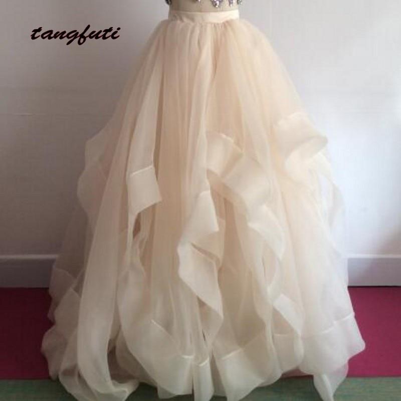 Tulle Ruffles Petticoats Skirts Custom Made Floor Length Party Dress Free Size 2017 Fashion Formal Wedding Petticoat