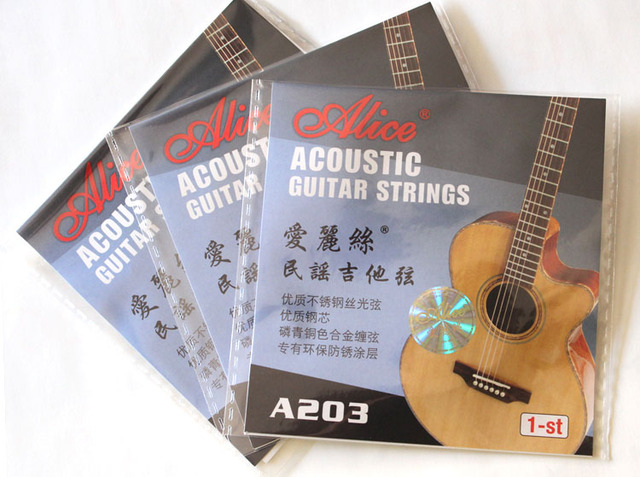 Two Piece Alice A203 Acoustic Guitar 1st String Wood Guitar String