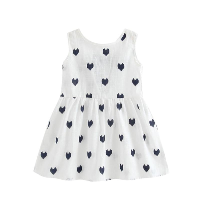 MUQGEW Kids Dresses For Girls Lace bow Summer Princess Dress Kids Baby Party Wedding Sleeveless Dresses Vestido W06