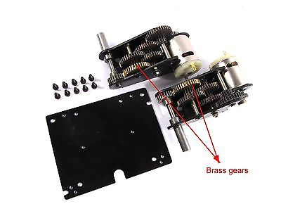 5:1 Steel Gearbox With Steel Shell For MATO 1/16 Metal Stug III RC Tank MT197 mato 1 16 stug iii rc tank full metal upper hull mt189 spare parts
