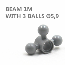 MOC Technic 10pcs BEAM 1M WITH 3 BALLS DIA5,9 compatible with lego MOC6055629