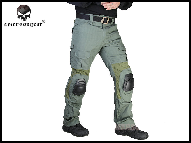 ФОТО Emerson G2 Tactical Pants Military Airsoft Hunting Combat BDU Pants with Knee Pads Mens Outdoor Sports Trousers EM7038 FG