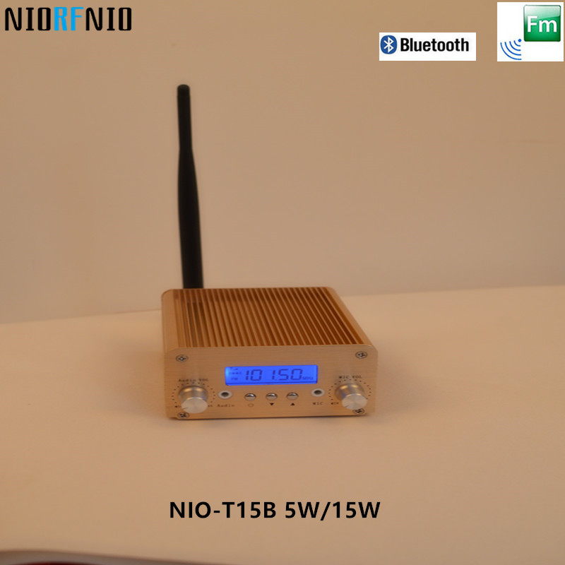 Free Shipping Professional Tube Headphone FM Amplifier Transmitter NIO-T15B 5W/15W Gold Color