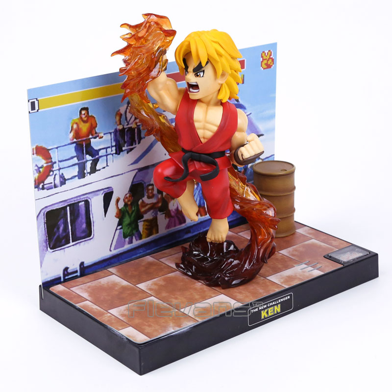 Street Fighter Il Nuovo Challenger Ken con Light & Sound Action PVC Figure Da Collezione Model Toy 22 cm Boxed