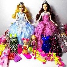 New Beautiful Handmade BJD Sale Princess Baby Barbie Dolls Kids Cartoon Toys for Girl Wedding Dress Toys Doll as birthday gift