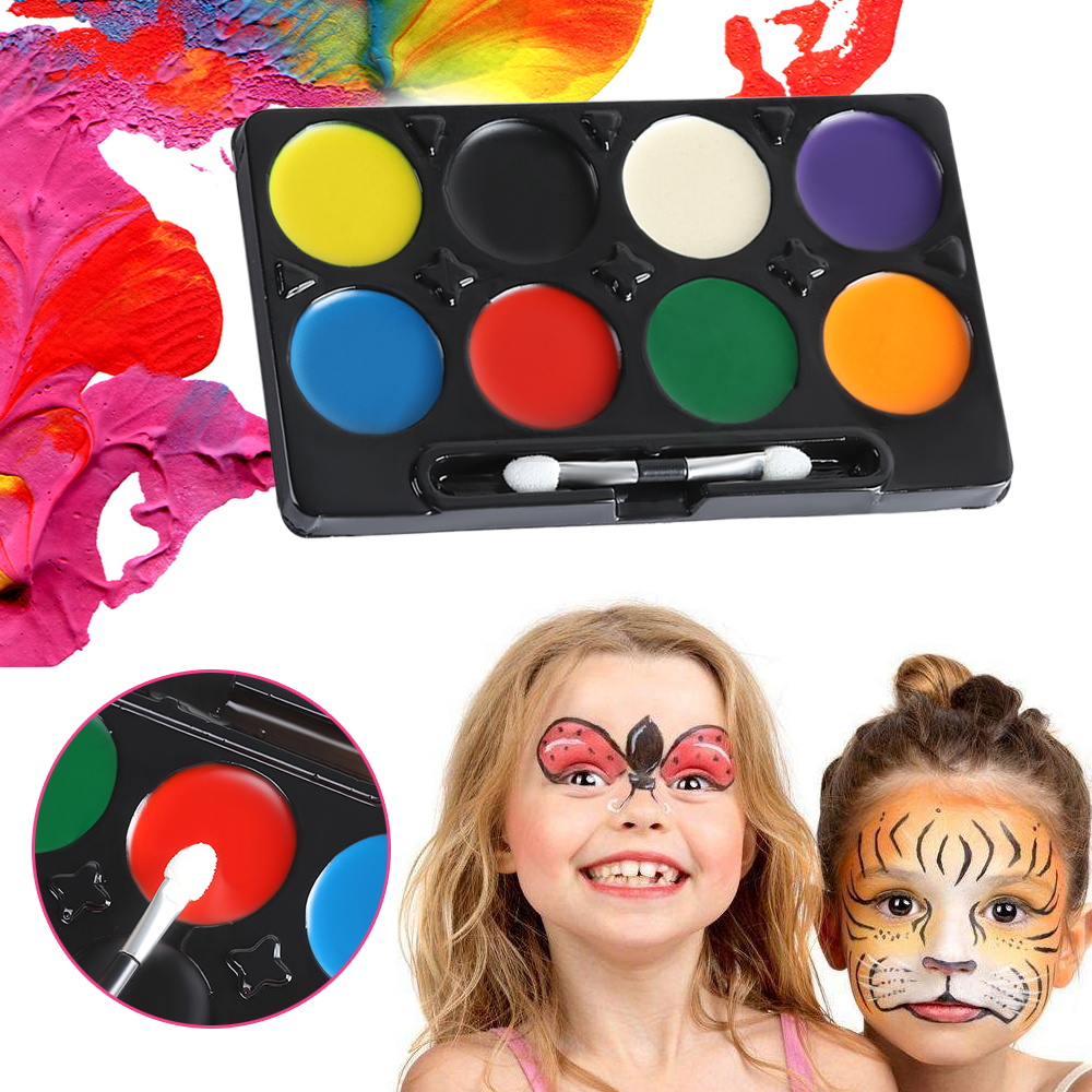 Christmas Halloween Makeup.Us 1 66 24 Off 1pc 8 Colors Halloween Makeup Facial Painting Graffiti Non Toxic Water Ink Oil Christmas Party Face Body Art Diy Decoration In Body