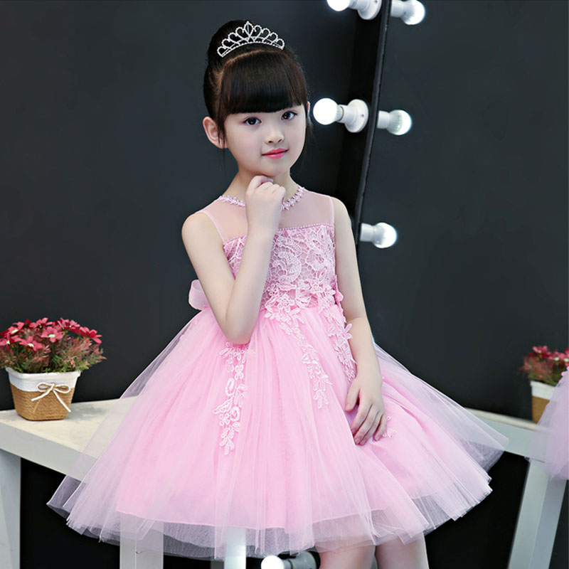 Детские бальные платья, лето 2019, Изысканная одежда для девочек, нарядные платья для малышей, милое вечернее платье принцессы без рукавов с ц