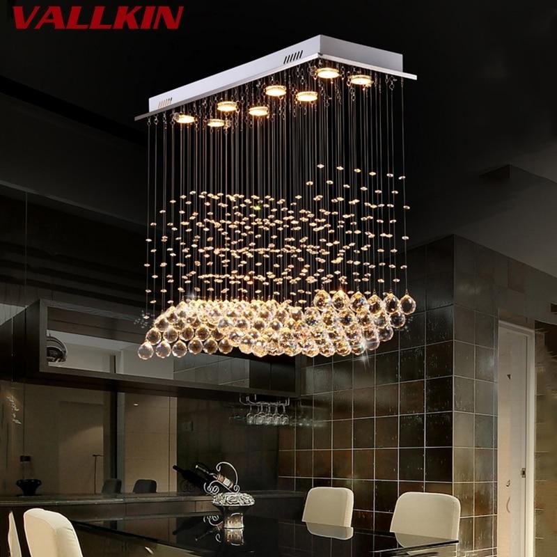 K9 led Křišťálové lustry světelné svítidlo Moderní lampa pro obývací pokoj Ložnice Hotel Hallway Indoor dekorace Schodiště Stropní svítidla