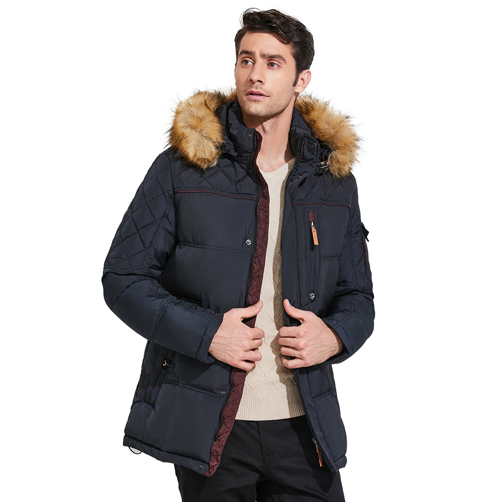 ICEbear 2017 High-quality Men Winter Thick Warm Coat of the Parka with Fur Collar Fashion Jackets Classic Parkas 15MD927D grizzilla men and women ski jacket winter snowboarding suit men s outdoor warm waterproof windproof breathable skiing jackets