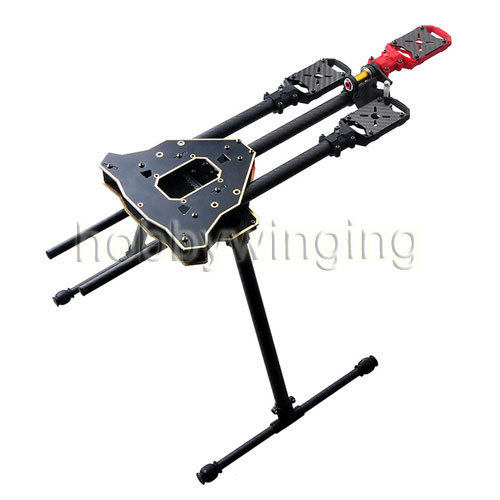 HMF Y600 3-Axis Y3 Solder PCB Tricopter Aircraft Frame Kit with Landing Gear f10811 hmf y600 tricopter 3 axle copter frame kit w high landing gear