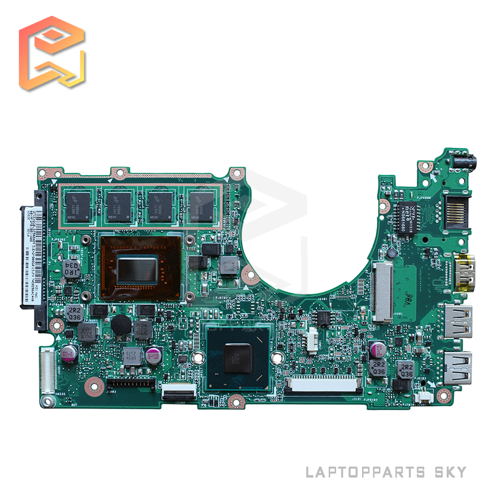 Original For ASUS X202E Q200E Motherboard with CPU i3-3217 REV2.0 Integrated 2GB RAM Main Board 100% working asus ga h55 ud3h h55 1156 computer motherboard with integrated needle i3 530 i3 750 quad core cpu package