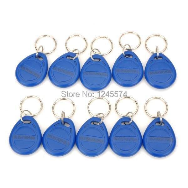10PCS 125KHz RFID Keyfob Proximity ID Card EM Format For Access Control