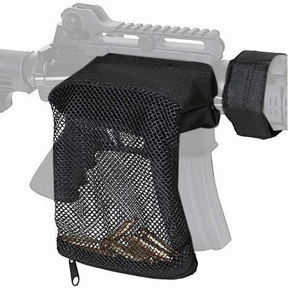 Tactical Hunting Rifle Brass Shell Catcher Quick Release AR 15 Ammo Mesh Trap Nylon Bag Shooting Gun Bullet Pouch Holder