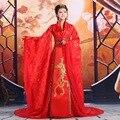 Traje de la danza traje de la princesa ropa hanfu vestuario juego de la espiga del traje nacional de servicio de tren