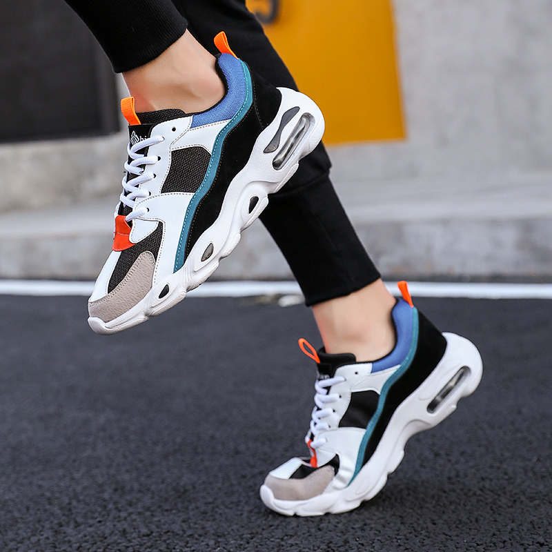 Men's Chunky Trainers Sneaker Dad Shoes High Platform Shoes Men Sneakers Classic Brand Black And White Sneakers Men
