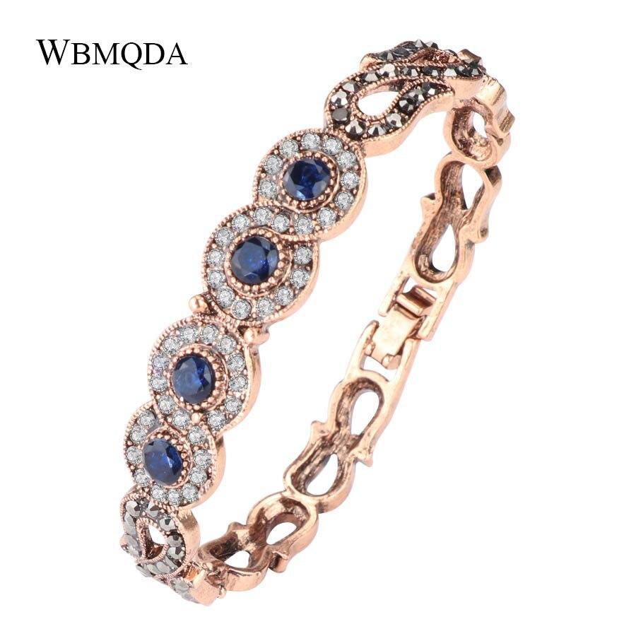 2018 India Jewelry Dubai Gold Jewelry Women Fashion: Vintage Lucky Number 8 Crystal Charm Bracelet Luxury Dubai