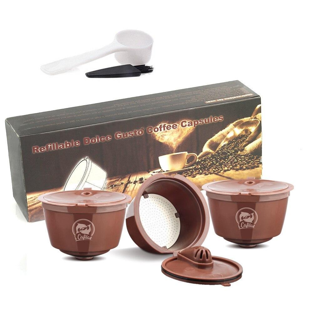 Crema Cápsula de Café Filtro Atualização 3rd Generation Para Cafeteira Dolce Gusto Recarregáveis Reutilizáveis Xícara De Café Cestas Gotejador