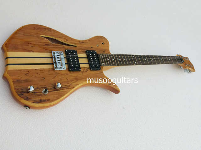 Новый бренд Электрический 6 струнная гитара с полуакустическая Дека блокирующий
