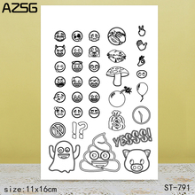 AZSG Small Expression Clear Stamps/Seals For DIY Scrapbooking/Card Making/Album Decorative Silicone Stamp Crafts