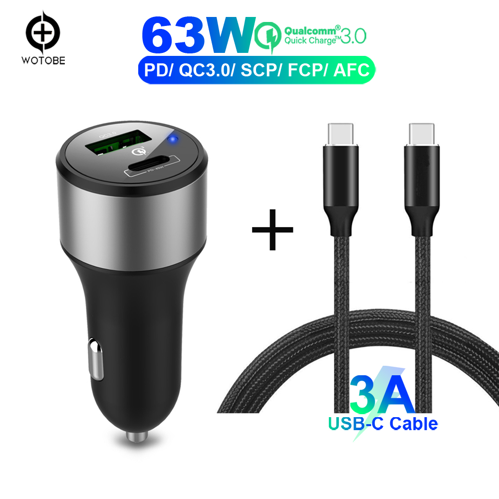 Power-Adapter Car-Charger Laptop Usb-C TYPE-C Samsung Pd 45w 18W For iPhone 8/8-Plus