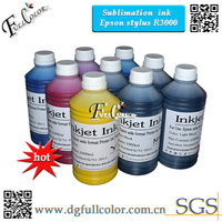 أعلى جودة نقل التسامي الحبر r3000 printting الحبر المياه القائمة 9 لون أحبار